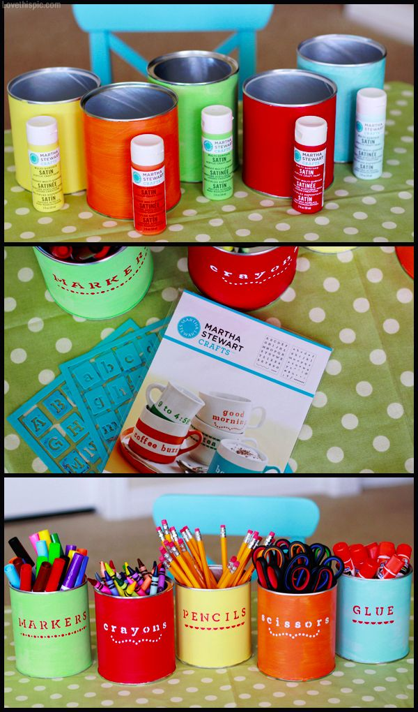 DIY supply holder paint diy crafts back to school