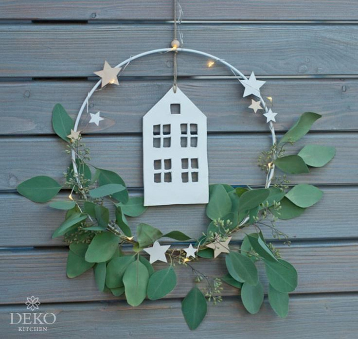 DIY: Christmas decoration for the wall with metal rings …
