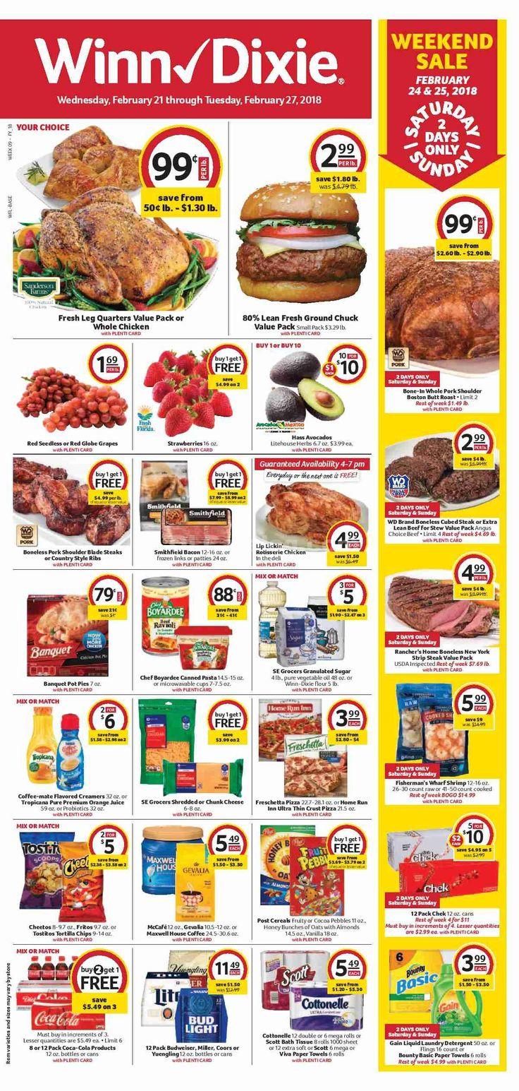 Winn Dixie Weekly Ad February 21 - 27, 2018 - http://www.olcatalog.com/grocery/winn-dixie-weekly-ad.html