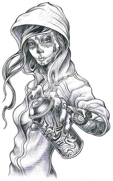 Эскизы татуировок в стиле чикано