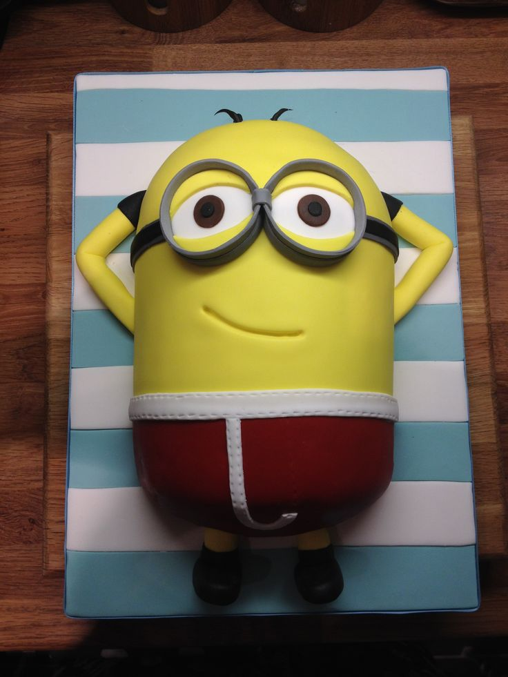 Minion Relaxing On A Man City Towel My Cake Art