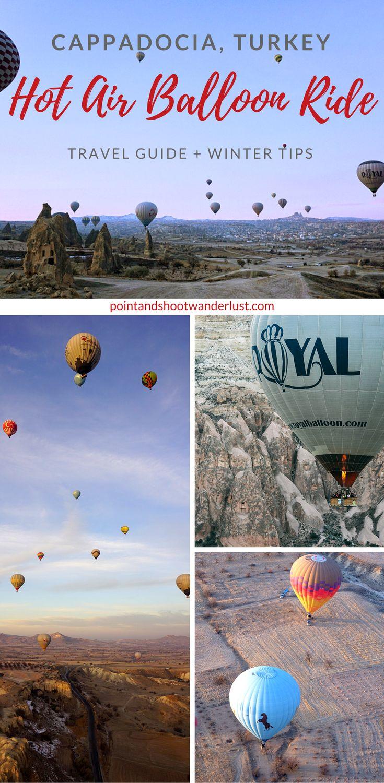 Ultimate travel guide to Hot Air Balloon ride in Cappadocia, Turkey + winter tips | Hot Air Balloon | Hot Air Ballooning | Goreme | Winter travel | Turkey travel | Things to do in Cappadocia | Kapadokya | Sunrise hot air balloon | Fairy Chimneys | #Cappadocia #Turkey