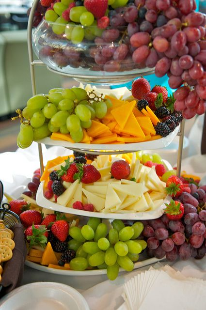 Lovely Fruit and Cheese Presentation Idea.