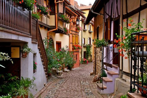 Cobblestone Street,Frieburg, Germany: Favorite Places, Cobblestone Streetfrieburg, Alsace, Beautiful Places, The Village, Alsac France, Travel, Beautiful Street, Photo