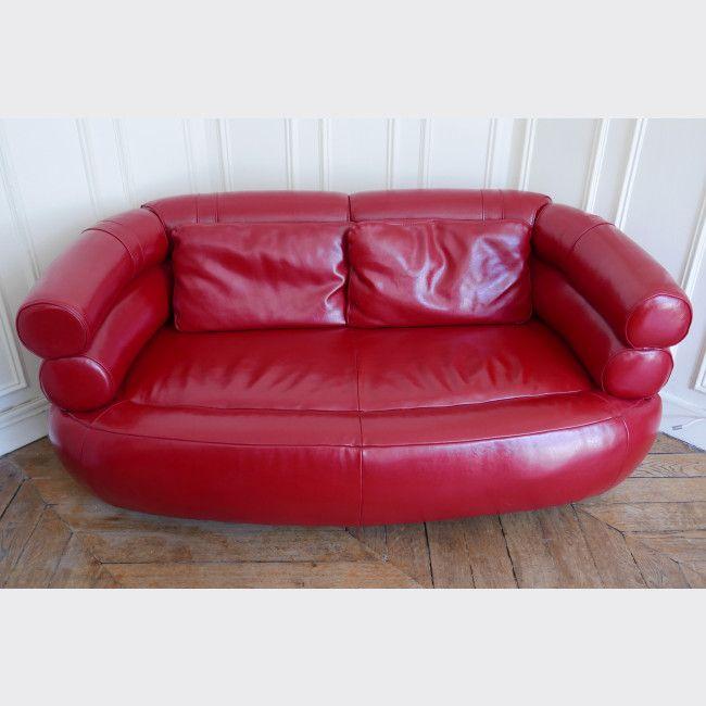 17 best id es propos de canap s en cuir rouge sur pinterest sofas en cuir - Canape cuir rouge conforama ...