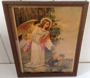 Antiquité. Collection. Art religieux Encadrement bois sculpté PY