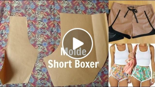 Faça seu molde de short Boxer Alana Santos Blogger | Cantinho do Video