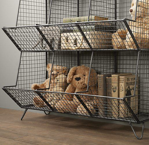 Industrial Wire Storage 9-Bin Floor | Novelty Storage | Restoration Hardware Baby & Child