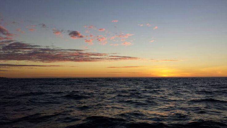 Sunset en el mar