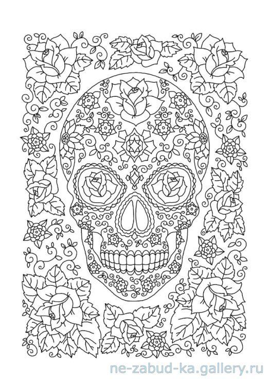274 best Adult ColouringSugar SkullsDay of the Dead images on