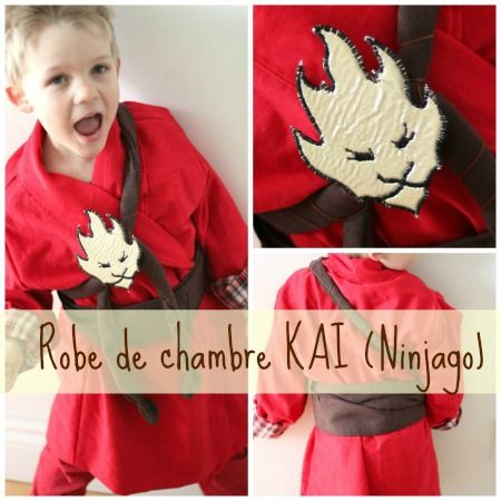 costume de Kai, le Ninja du feu des Ninjago