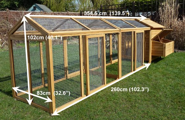 Image for chicken coops and runs hen house with large run for Chicken run plans