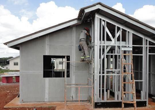 construção a seco em casa no estilo Steel freme