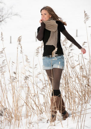 Wear shorts all winter with leggings!