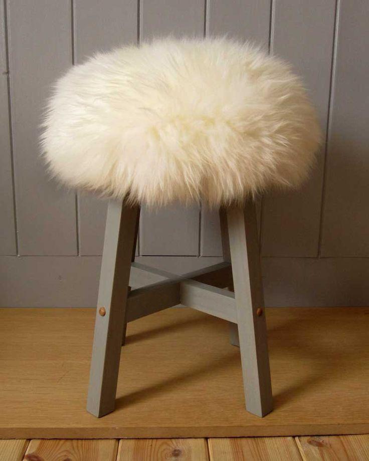 Truffula Tree sheepskin stool by TinkerTinkerTinker on Etsy