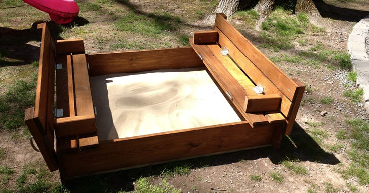DIY sandbox. Comes with instructions and supplies you need to build :) yay addi needs one of these !