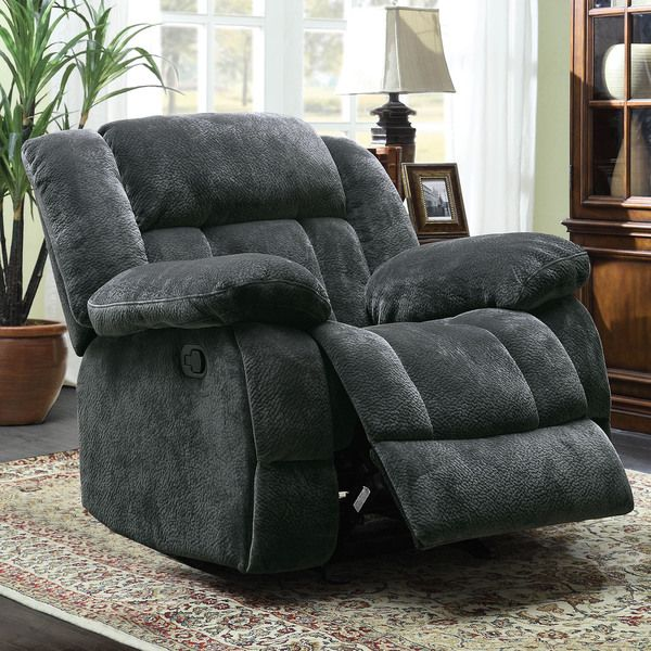 Mason Modern Grey Microfiber Glider Reclining Chair By TRIBECCA HOME Tribecca Home
