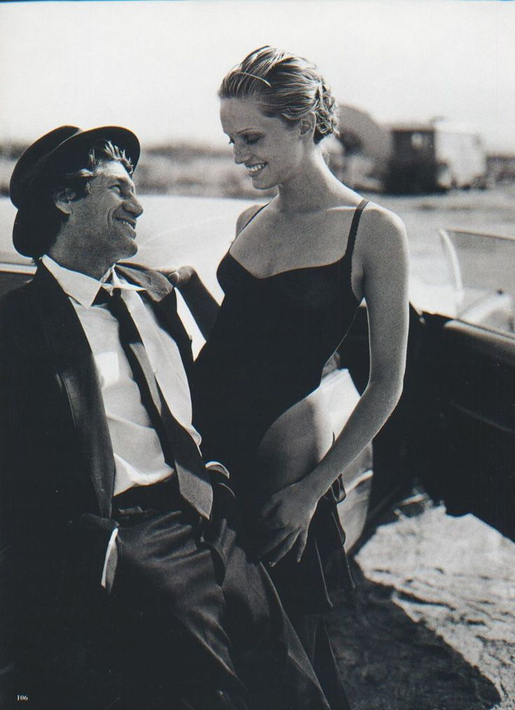Fred Ward & Beri Smither | Photography by Peter Lindbergh | For Harper's Bazaar Magazine US | June 1993