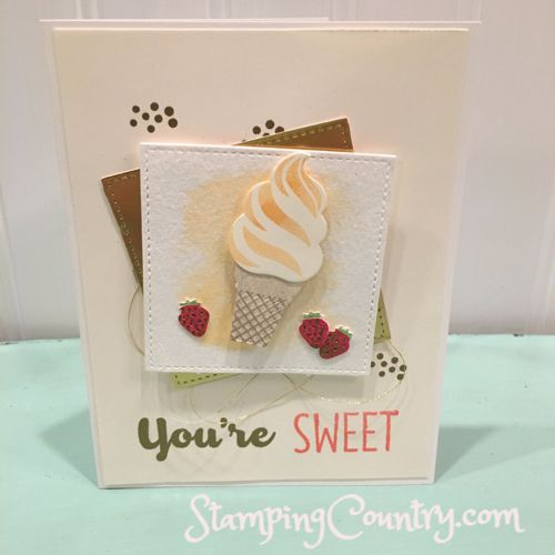 Orange Scream Cool Treat by Robin Lee - Cards and Paper Crafts at Splitcoaststampers