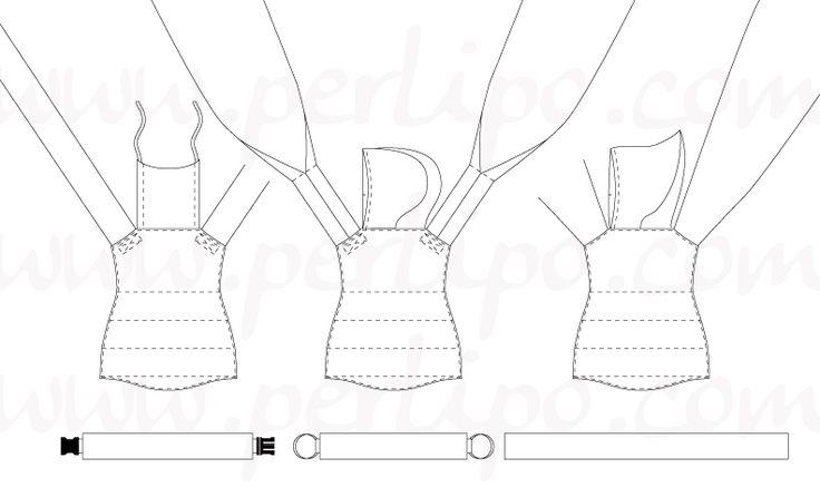 Adjustable and customizable mei tai carrier pattern  patron de mei tai ajustable et personnalisable