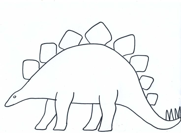 Blank Dinosaur Template Paper Crafts For Children