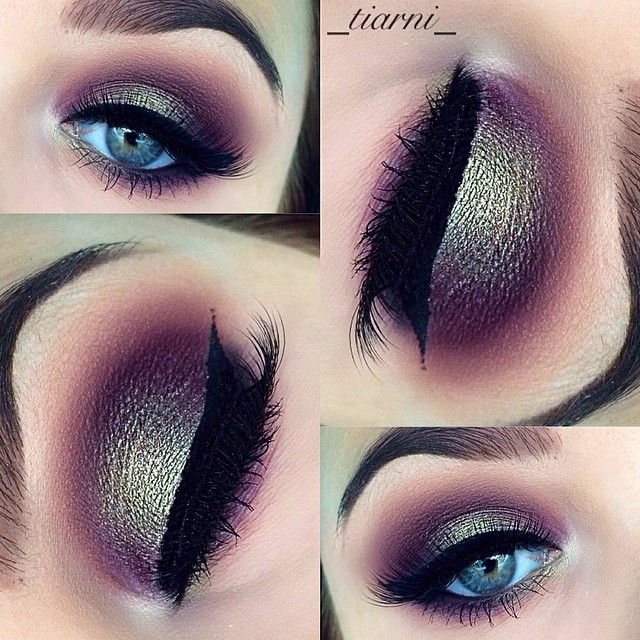 purple and green makeup