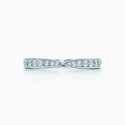 Tiffany Harmony™ ring in platinum with bead-set diamonds. But I prefer white gold