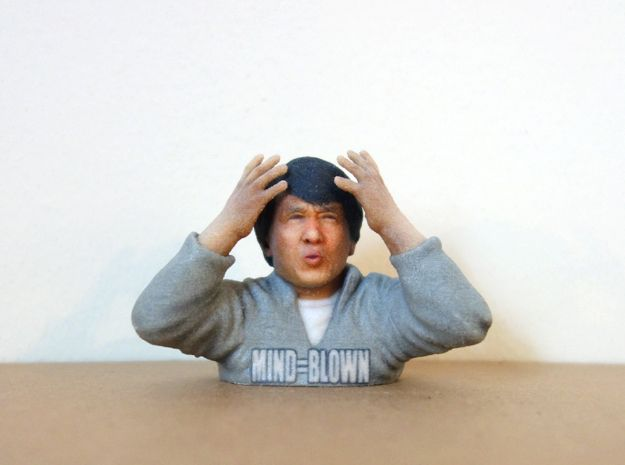 Jackie Chan Mind Blown meme 3D print. by Soulstice