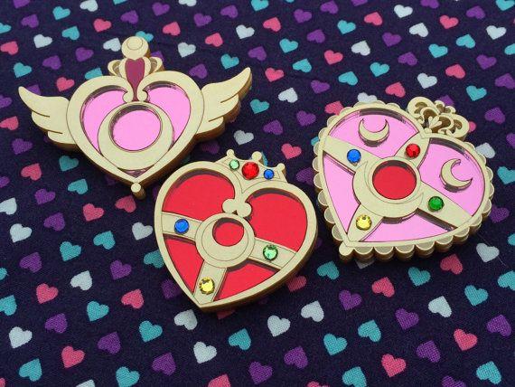 Sailor Moon Brooch Choose One by GeekyWears on Etsy