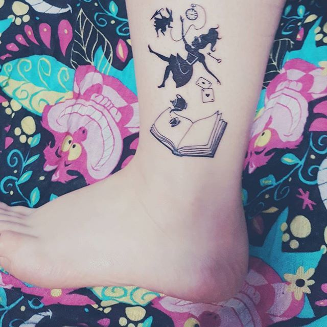 247 best literary tattoos images on pinterest tattoo for Small alice in wonderland tattoos