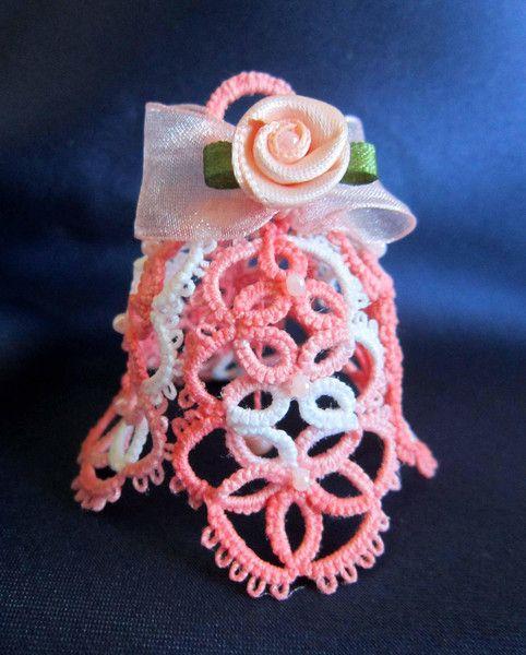Campanella rosa al chiacchierino e rosellina di Piccoli Capricci di Mara su DaWanda.com
