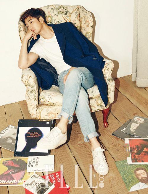 Yoon Kye Sang - Elle Magazine November Issue '15