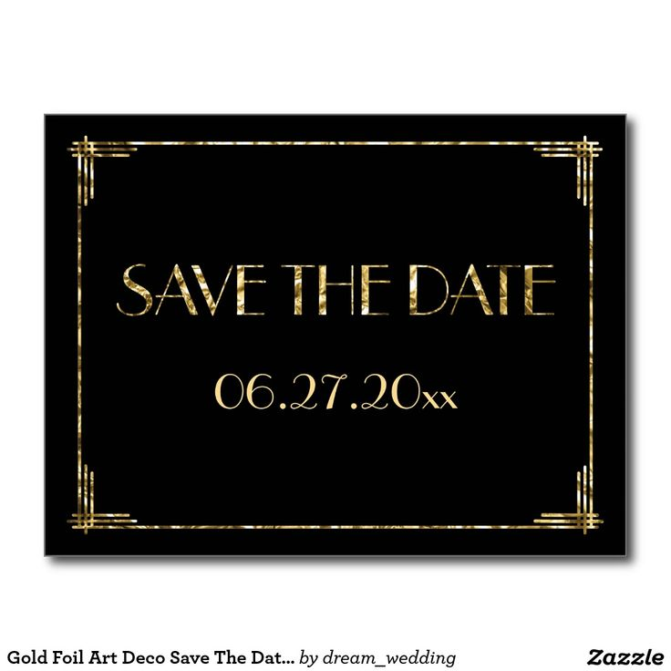 gold foil art deco save the date postcards black the o 39 jays art deco and save the date postcards. Black Bedroom Furniture Sets. Home Design Ideas