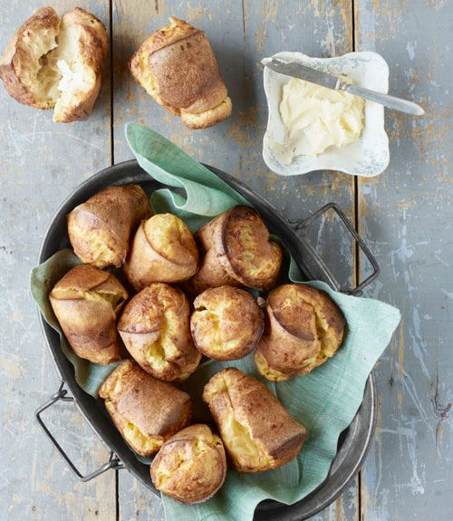 Consider these melt-in-your-mouth delights one of life's little luxuries—no rising or rolling necessary. Recipe: Cheddar Popovers   - Delish.com