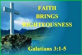Therefore we conclude that a man is justified by faith apart from the deeds of the law. Romans 3: 28