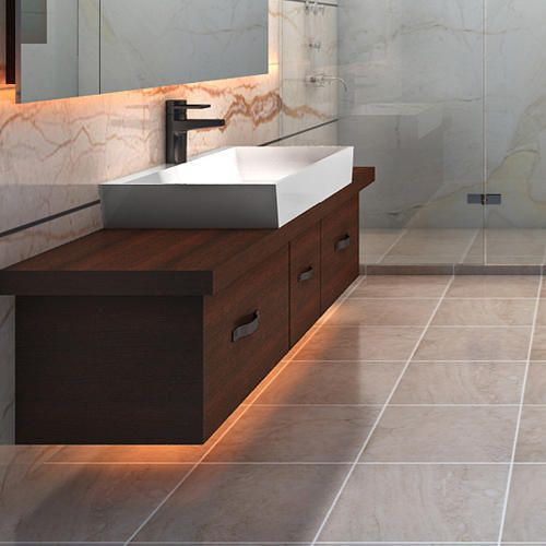 Brown Modular Bathroom Vanity Cabinets