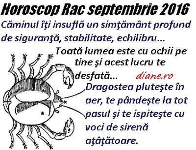 diane.ro: Horoscop Rac septembrie 2016