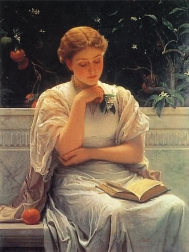 Girl reading by Charles Edward Perugini: Women Reading, Girls Reading, Cassandra Clare, The Artists, Edward Perugia, Charles Edward, Jane Austen, Thick Charles, Woman Reading