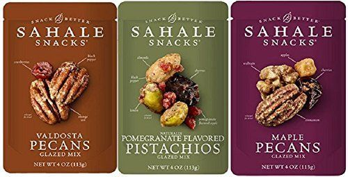Sahale Snacks Glazed Nut Blends 3 Flavor Variety Bundle 1 Sahale Snacks Maple Pecans With Walnuts Cherries  Cinnamon 1 Sahale Snacks Valdosta Pecans With Sweet Cranberries Black Pepper  Orange Zest and 1 Sahale Snacks Pomegranate Pistachios With Almonds Cherries  Black Pepper 40 Oz Ea ** Check this awesome product by going to the link at the image.Note:It is affiliate link to Amazon.