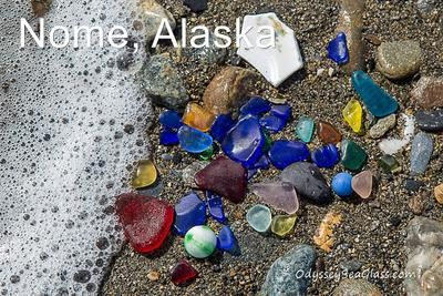 Nome, Alaska sea glass: May 15, 2017, Nome, Alaska, USA David,  My Son Micheal Burnett lives and works in Nome, Alaska, USA.  These pictures of sea glass were taken on the Bering
