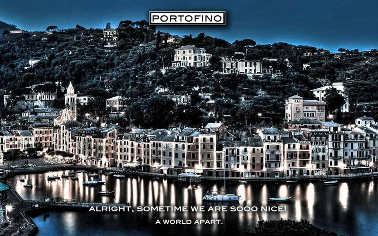 The lights of Portofino Italy