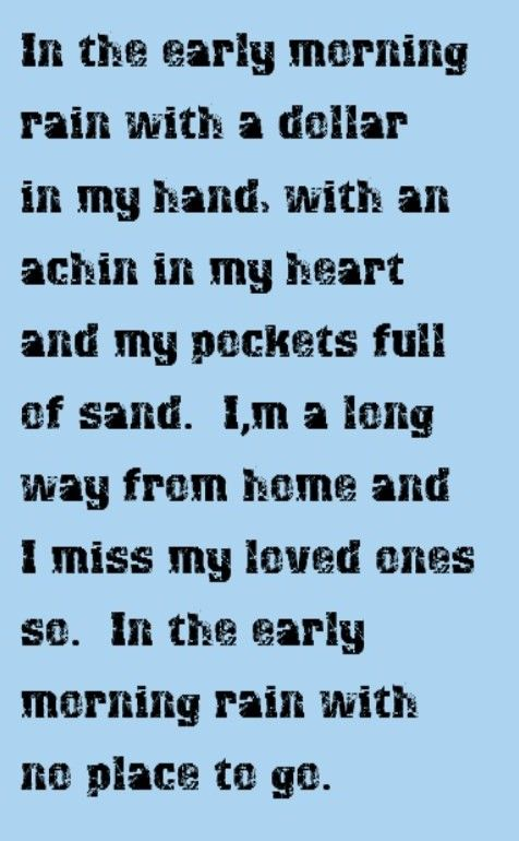 Gordon Lightfoot - Early Morning Rain - song lyrics, song quotes, songs, music lyrics, music quotes,