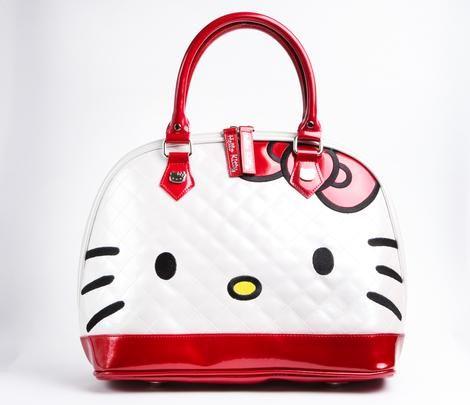 Hello Kitty Patent Handbag: Face