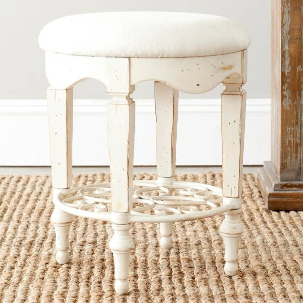 Product Image for Safavieh American Home Melissa White Vanity Stool 2 out of 2
