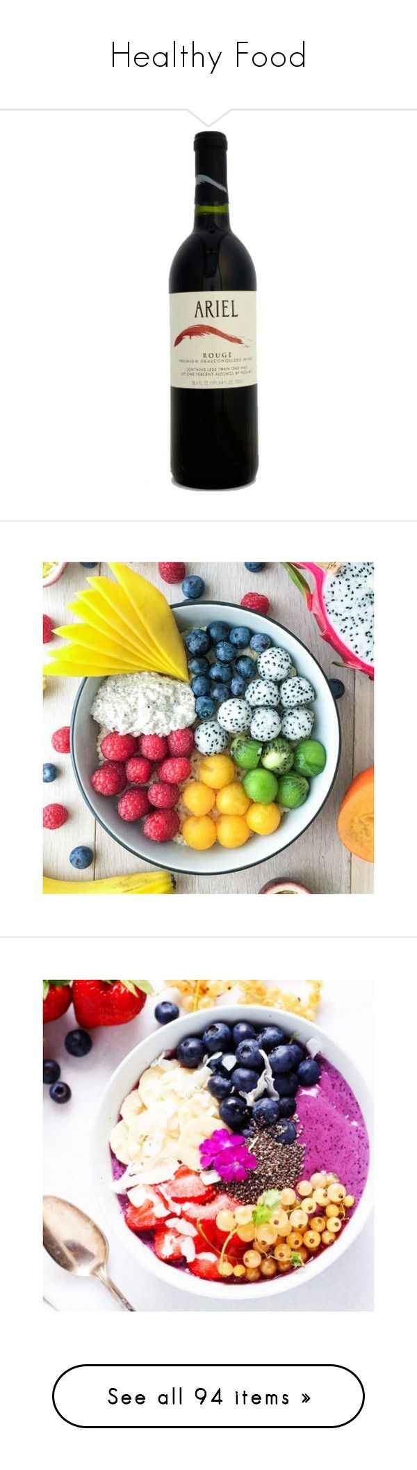 """Healthy Food"" by allison-syko ❤ liked on Polyvore featuring food, photos, home, kitchen & dining, serveware, fillers, food and drink, accessories, lsa international and serving bowl"