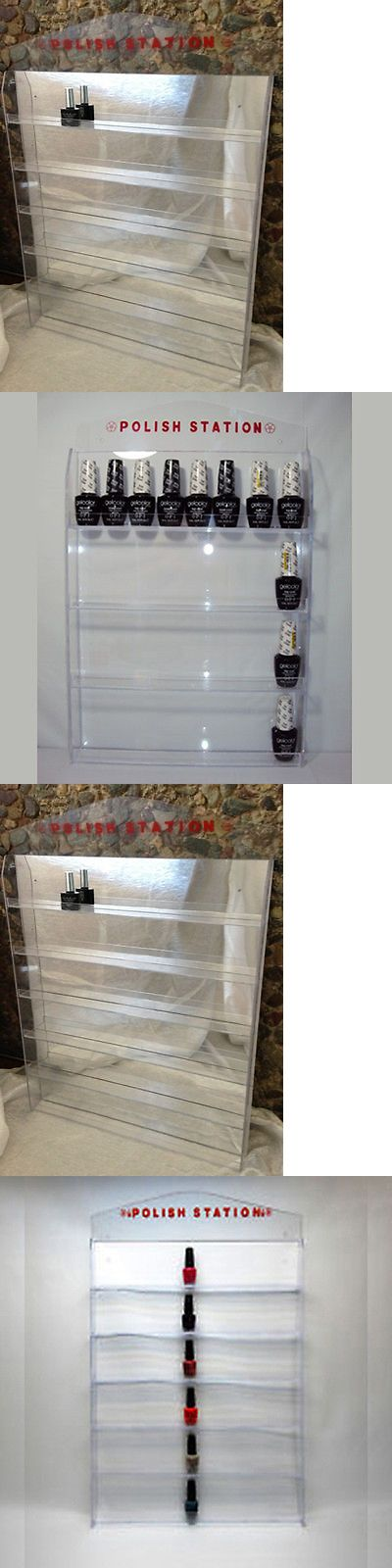 Salon and Spa Supplies: Acrylic Nail Polish Wall Rack Display (Holds 32, 60, 72, Or 96 Bottles) Mirror -> BUY IT NOW ONLY: $39.99 on eBay!