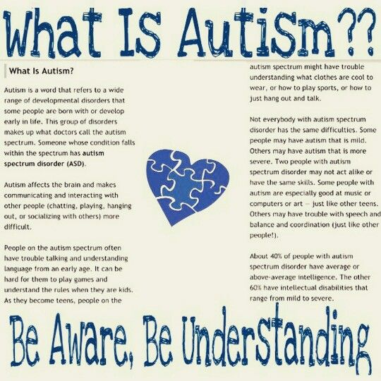 Be Aware, Be Understanding, Autism~