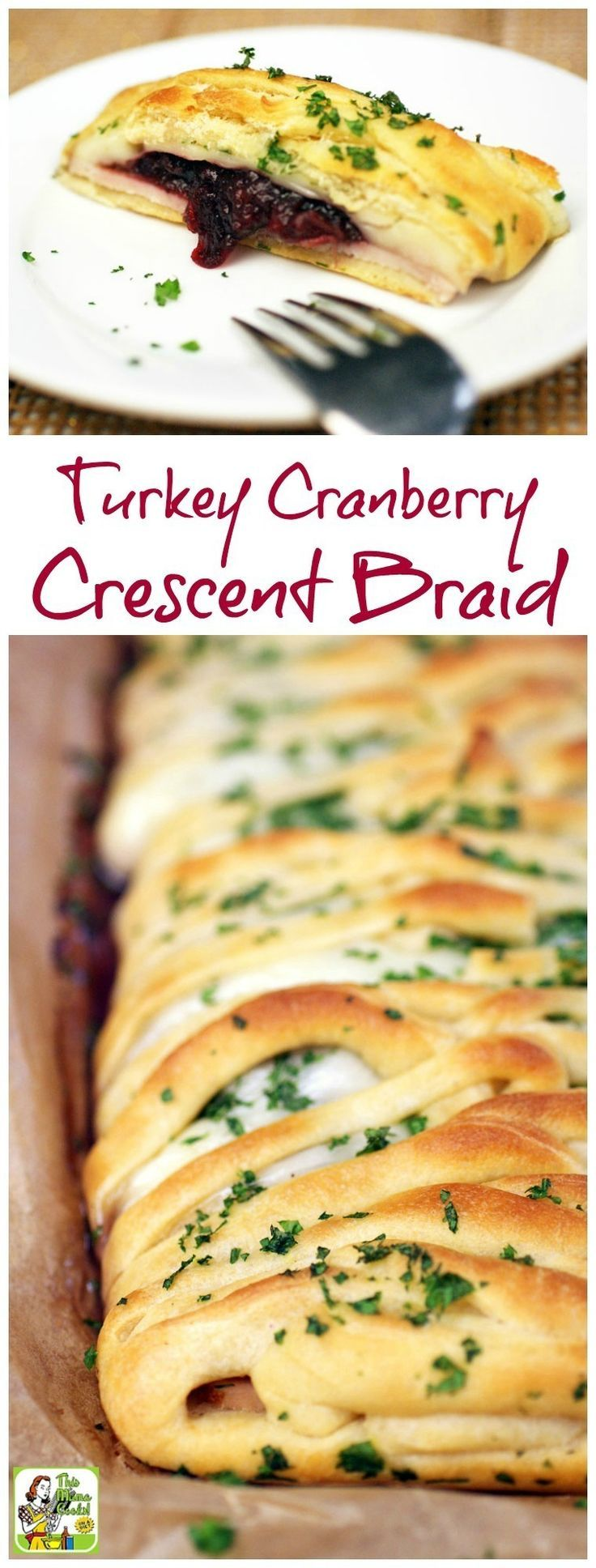 Not only is this Turkey Cranberry Crescent Braid recipe a terrific party appetizer, it's a thrifty way to use up holiday dinner leftovers. Click to learn how to make this crescent dough recipe.