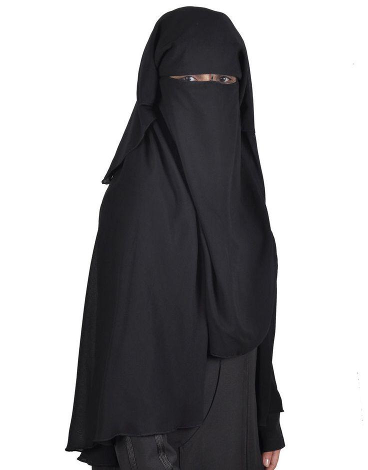 Extra lang Niqab Gesichtsschleier Hijab Gebets- Islamische Kleidung HI0383 in Kleidung & Accessoires, Damenmode, Sonstige | eBay