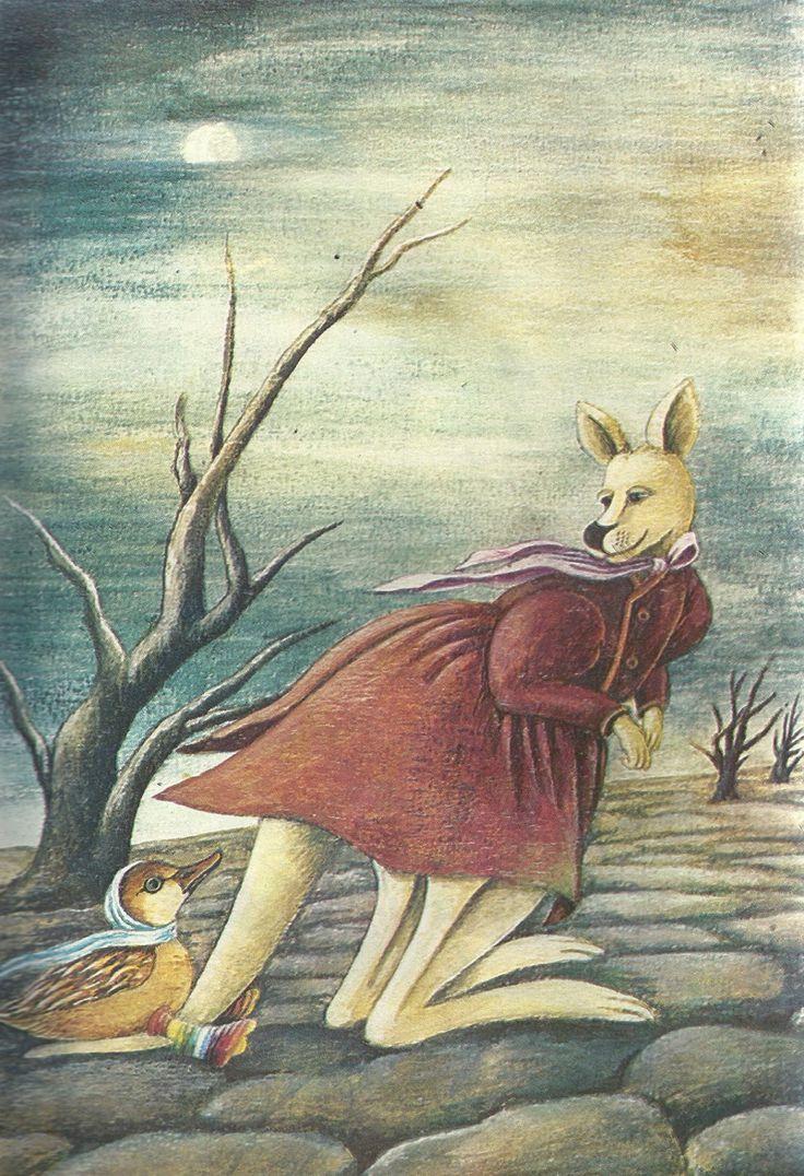 """Krystyna Michałowska illustration for """"Takie coś""""."""